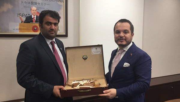 وزير التجارة خالد الروضان يبحث مع رئيس وكالة الاستثمارات التركية تطوير التبادل الاستثماري الثنائي