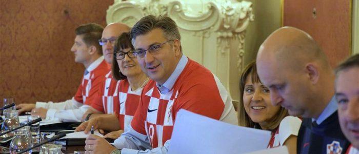 نتيجة بحث الصور عن حكومة كرواتيا تعقد اجتماعها بزي المنتخب